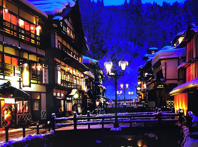 山形県の銀山温泉「銀山荘」が無料宿泊券が当たるTwitterキャンペーンを実施中! 銀山温泉街